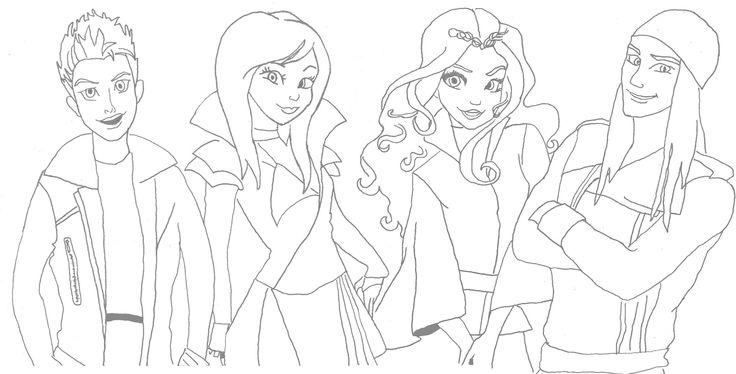 Descendants 2 Printable Coloring Pages | Disneyclips.com | 374x736