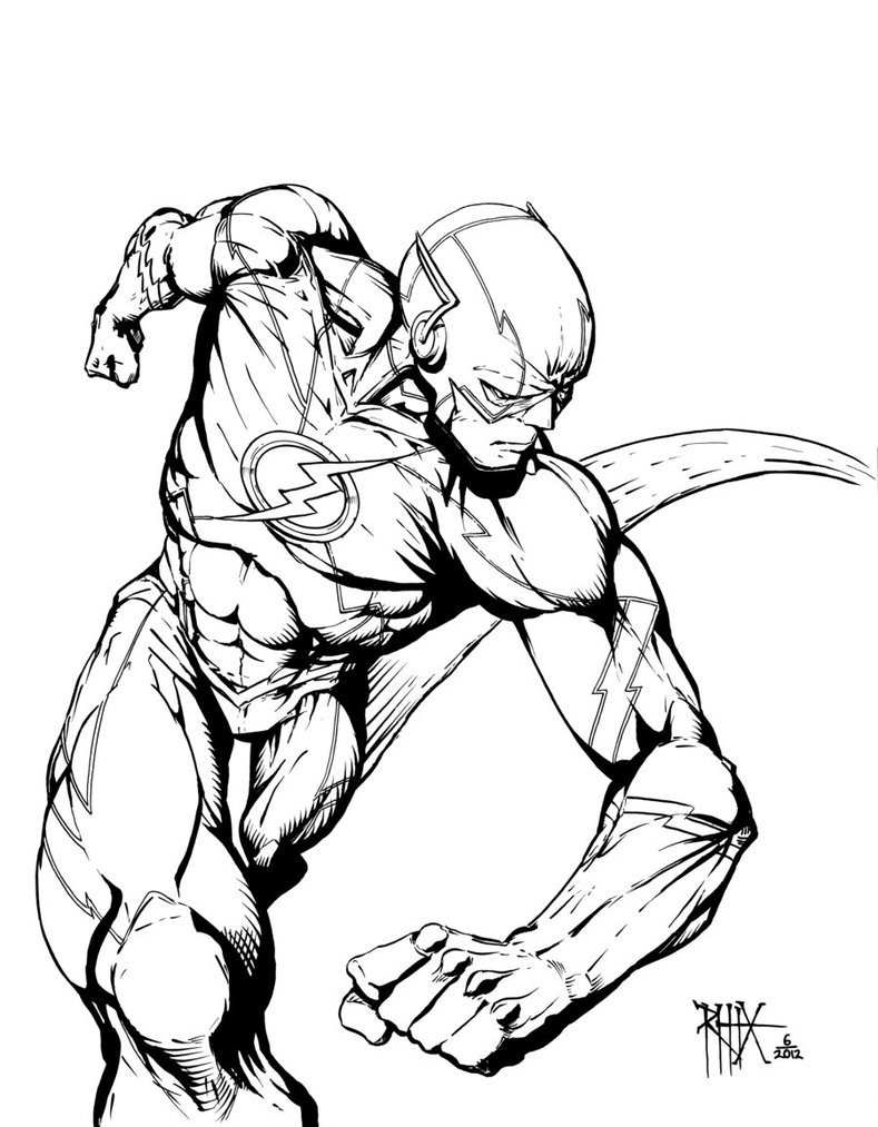 The Flash free coloring image pages to print – Colorpages.org