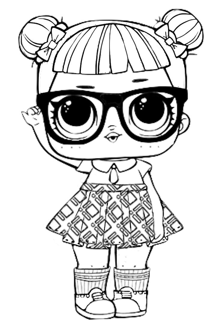 LOL Surprise free coloring image pages for kids ...