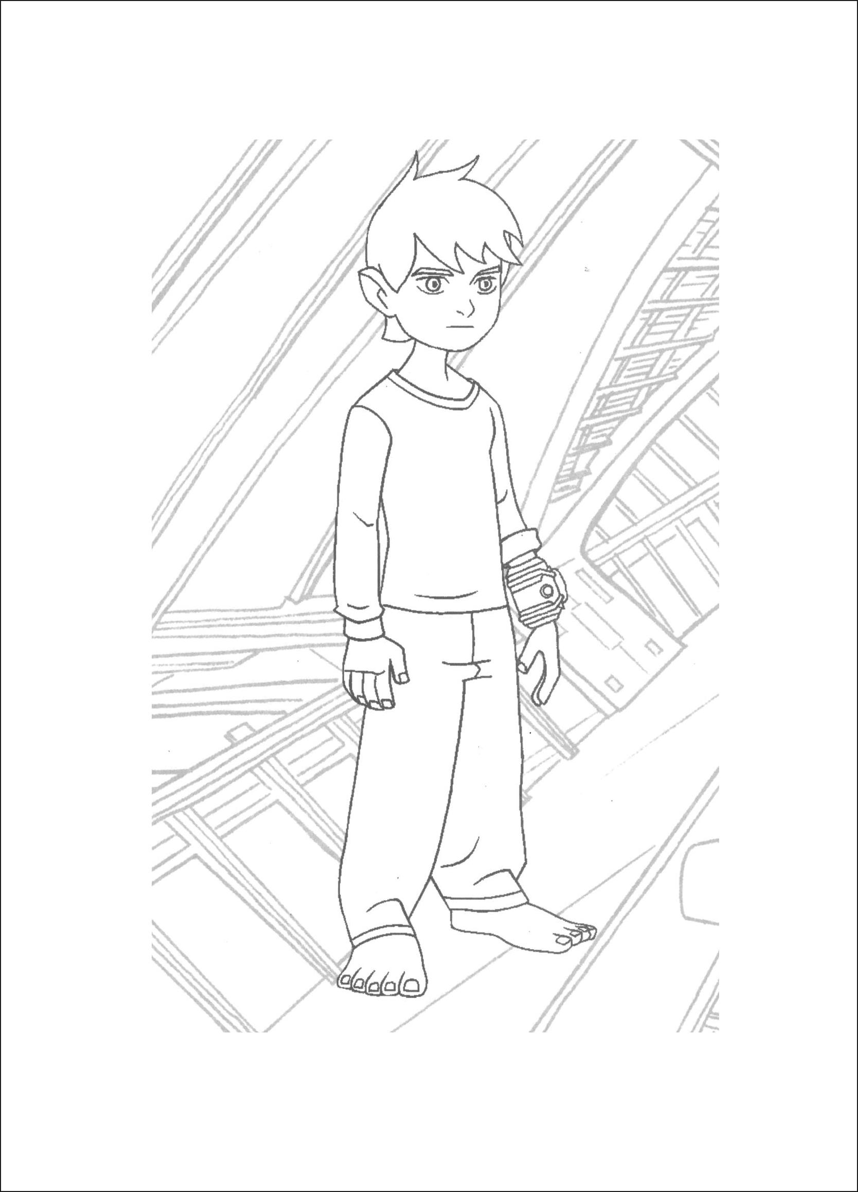 Ben 10 Cartoon Network Free Coloring Pages To Print