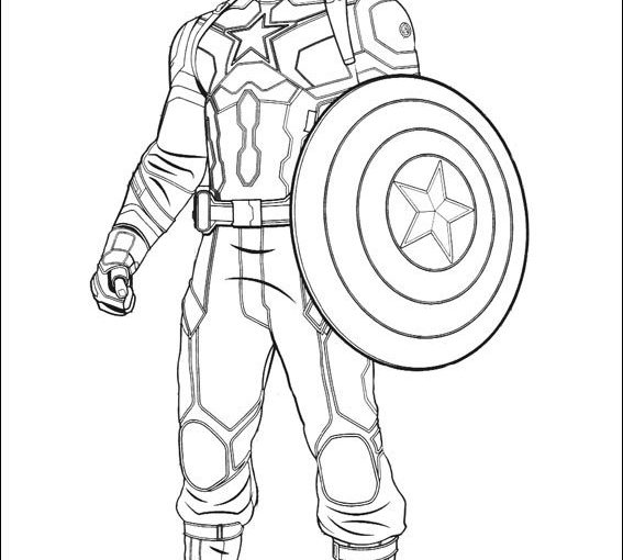 Captain America Avengers Endgame Coloring Pages ...