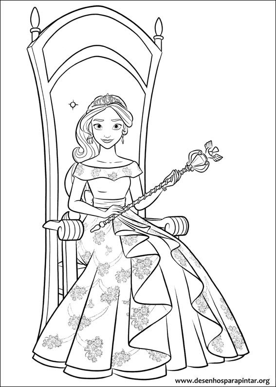 Elena Of Avalor Coloring Free Pages From Disney
