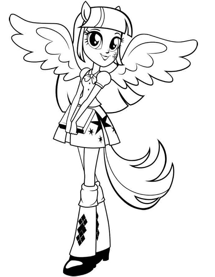 Free Equestria Girls My Little Pony Coloring Pages ...