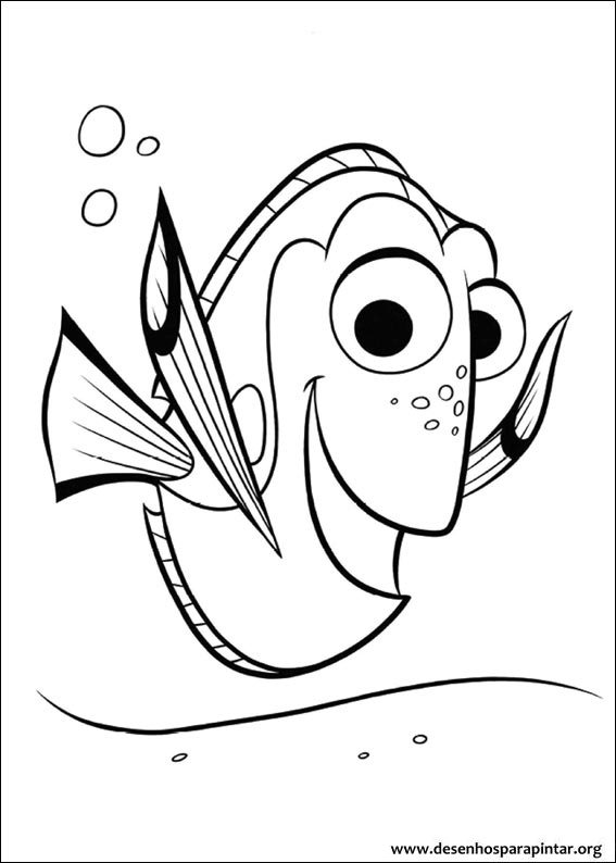 Finding Dory Free Coloring Pages To Print Colorpages Org