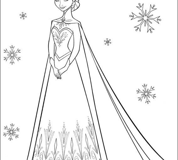Elsa Anna And Olaf From Frozen Free Disney Coloring Pages To