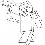 Minecraft Steve Creeper Enderman Free Printable Coloring Pages Colorpages Org