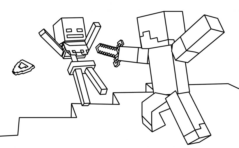 Minecraft Steve, Creeper, Enderman Free Printable Coloring Pages –  Colorpages.org