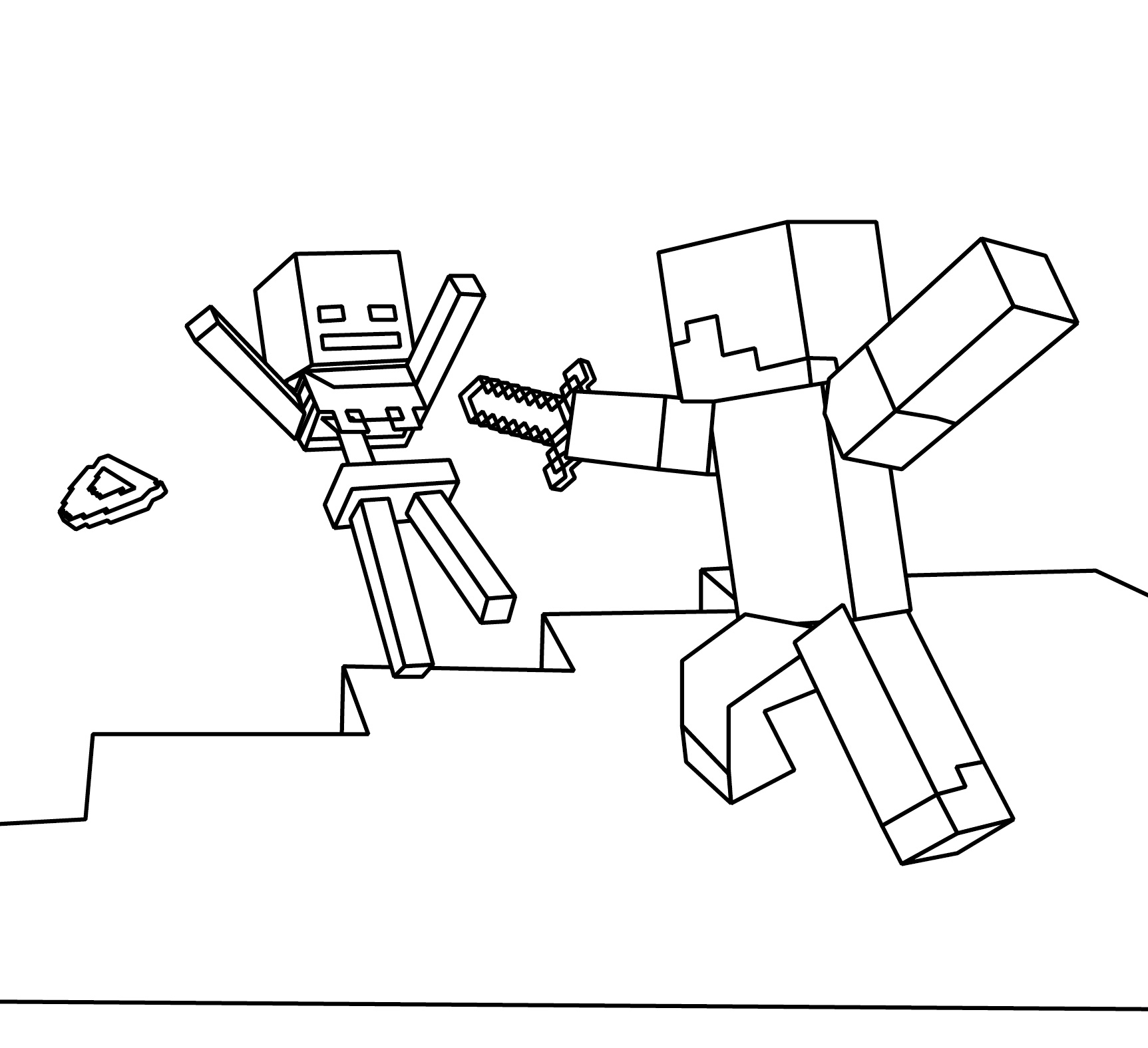 Minecraft Steve Creeper Enderman Free Printable Coloring Pages