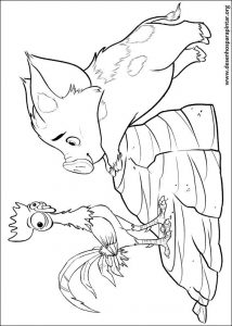 Moana Disney free coloring pages to print