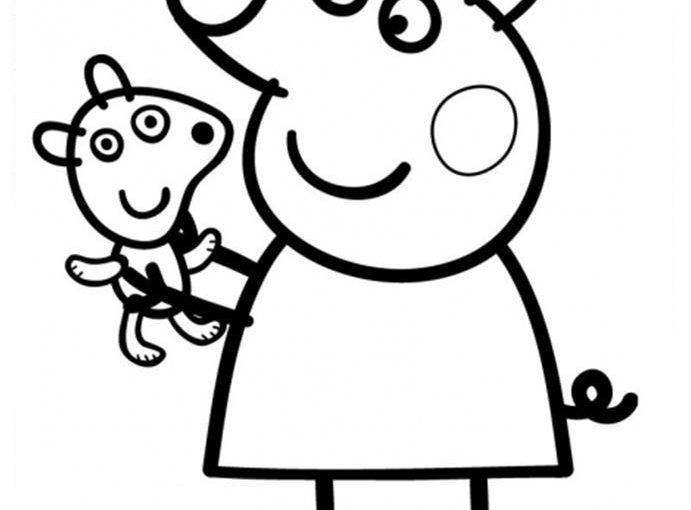 Peppa Pig And George Free Coloring Images Pages To Print Colorpages Org