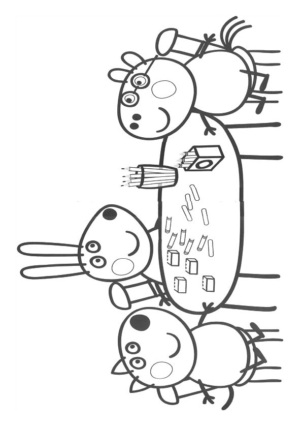 Peppa Pig And George Free Coloring Images Pages To Print