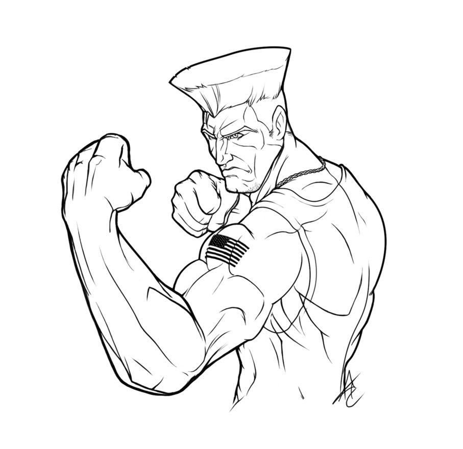 Street Fighter free coloring images