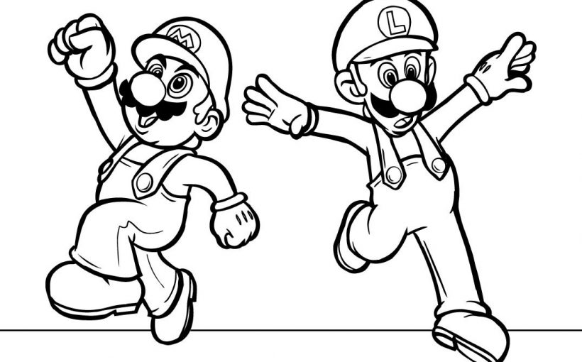 Peach Luigi Free Coloring Image Pages