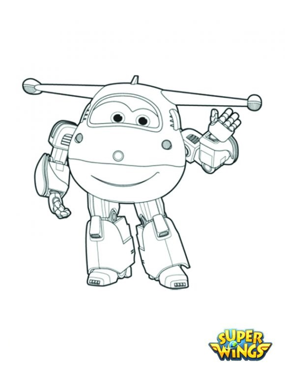Super Wings Free Coloring Image Pages To Print Colorpages Org