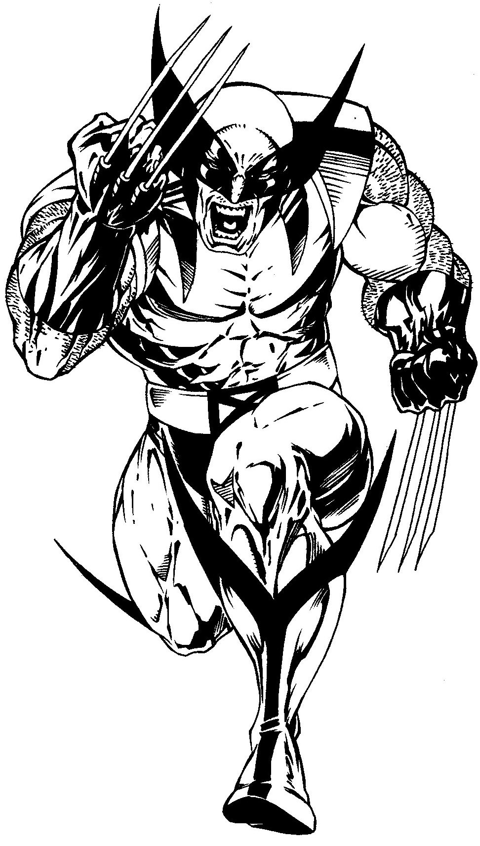Wolverine Logan free coloring pages to print – Colorpages.org
