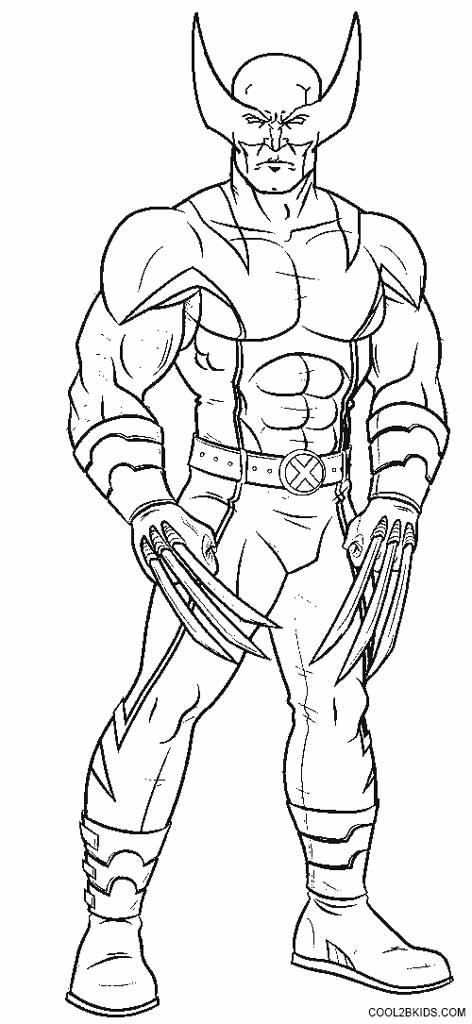Wolverine Logan free coloring pages to print - Colorpages.org