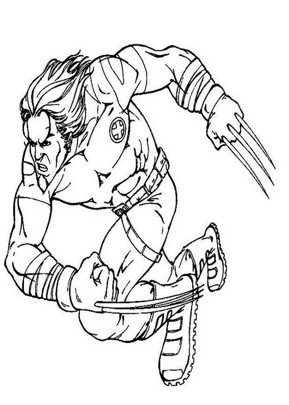 Wolverine Logan Free Coloring Pages To Print Colorpages Org