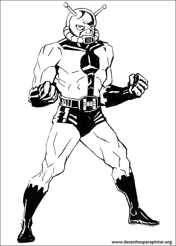 Ant Man Wasp Free Coloring Pages
