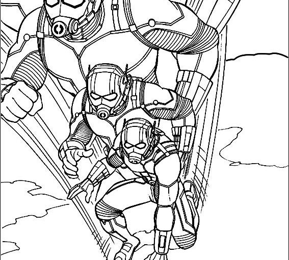 wasp avengers coloring pages - photo#19