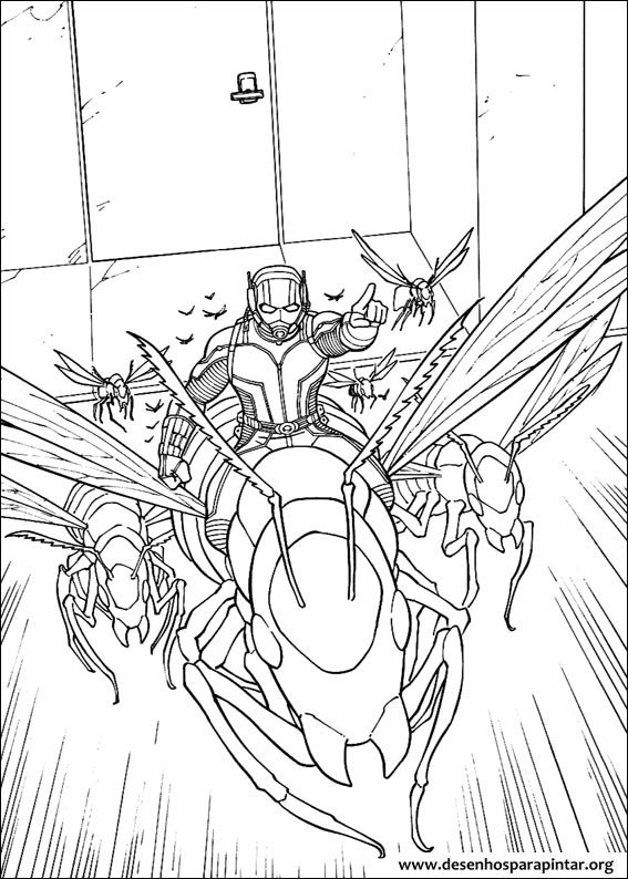 Ant Man And Wasp Free Printable Coloring Pages