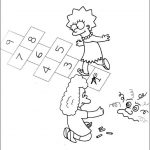 The Simpsons, Marge, Bart, Homer, Lisa, free printable coloring pages