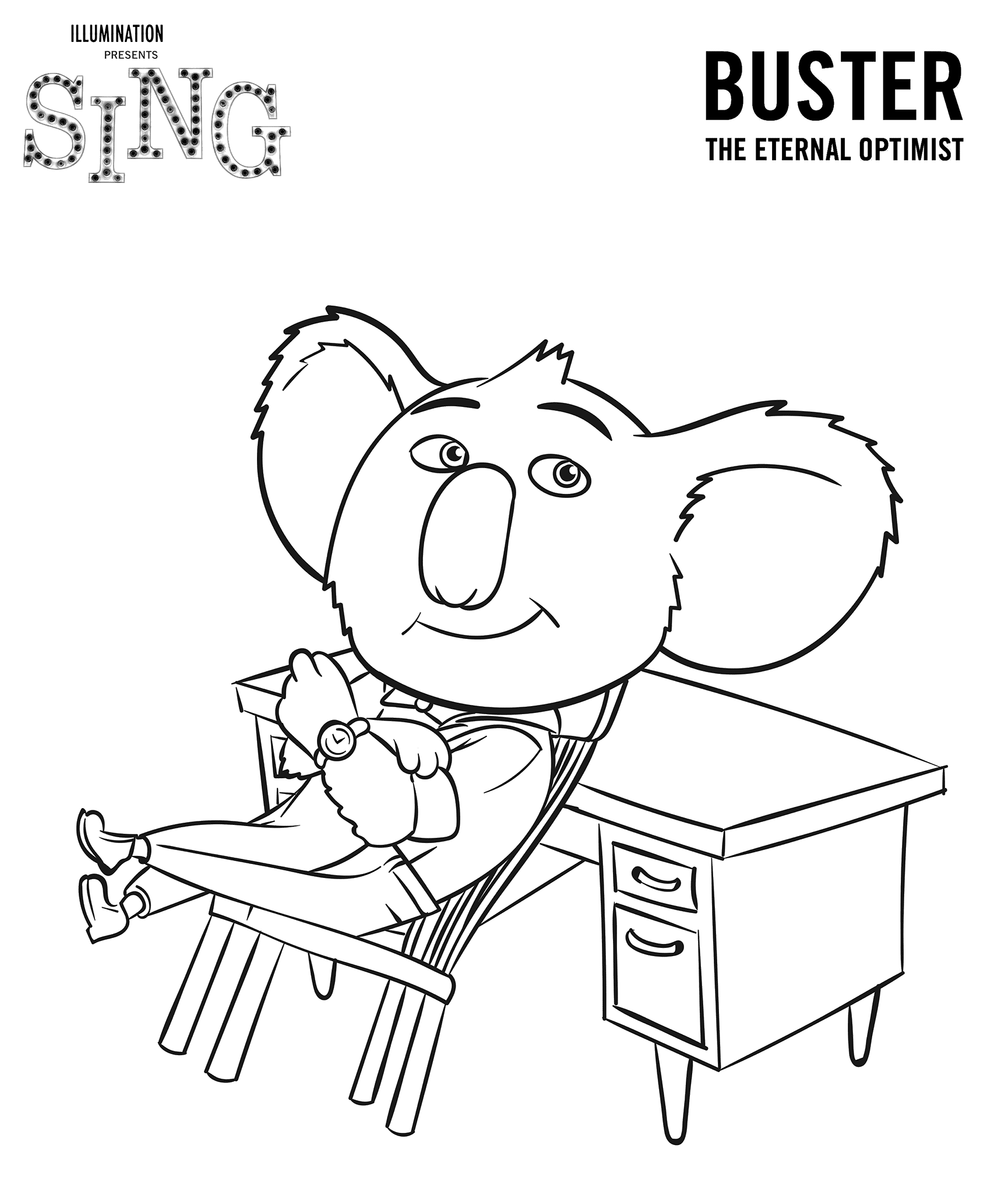 Sing characters movie Ash, Johnny, Meena, Mike free ...