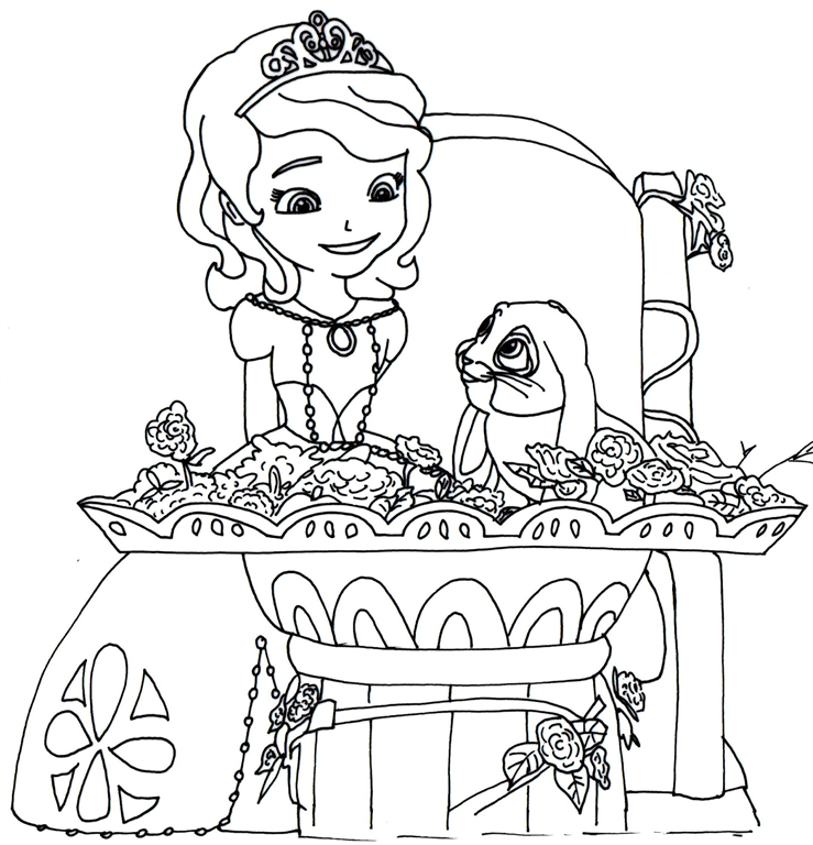 Pricess Sofia The First Free Coloring Pages Printable Images