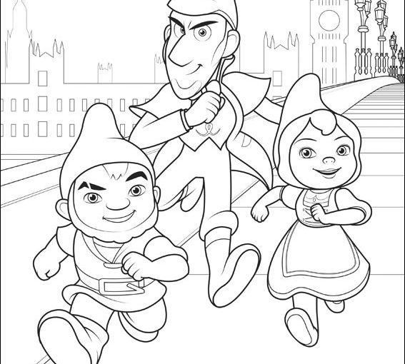 Gnomeu and Juliet 2 Sherlock Gnomes, free printable coloring pages
