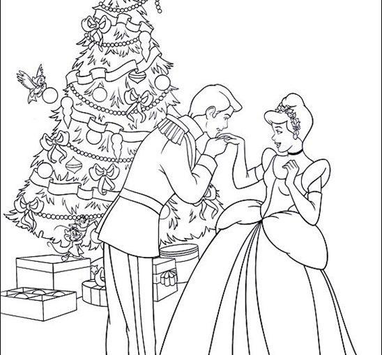 Disney Princess Christmas printable coloring pages