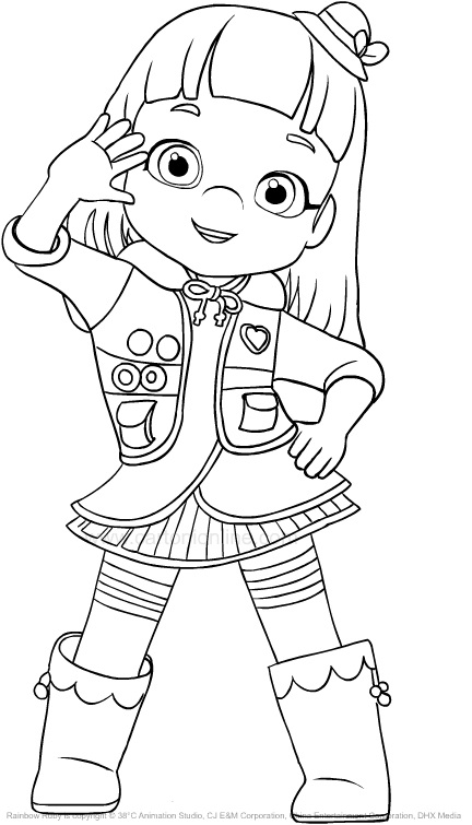Rainbow Ruby free printable coloring pages – Colorpages.org