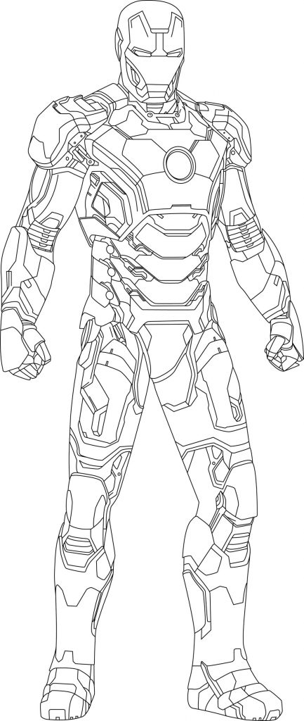 free downloadable coloring pages | Iron Man free printable coloring pages – Colorpages.org