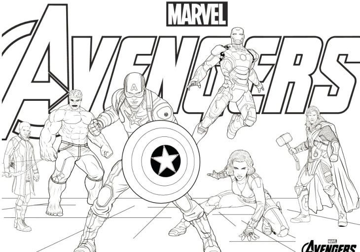 Avengers 4 Logo Coloring Pages for Kids - Get Coloring Pages | 510x730
