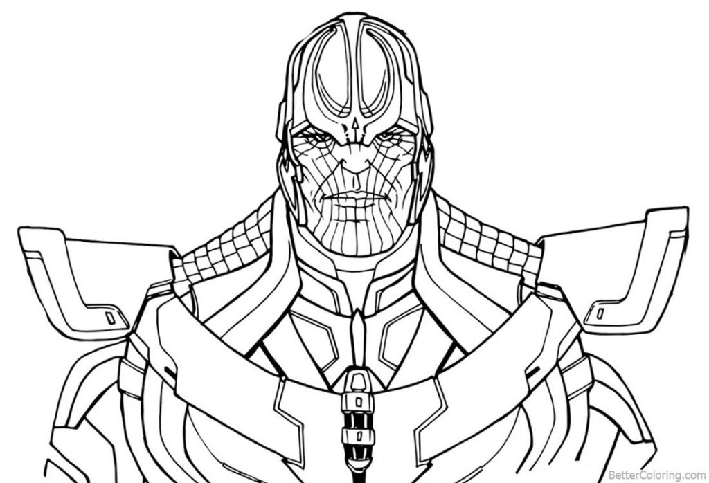 Avengers Infinity War End Game free printable coloring ...