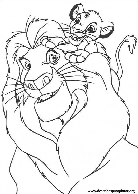 Lion King - free printable coloring pages with Simba, Mufasa, Timon, Pumba