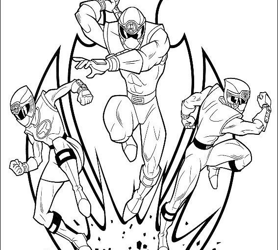 Power Rangers free printable coloring pages
