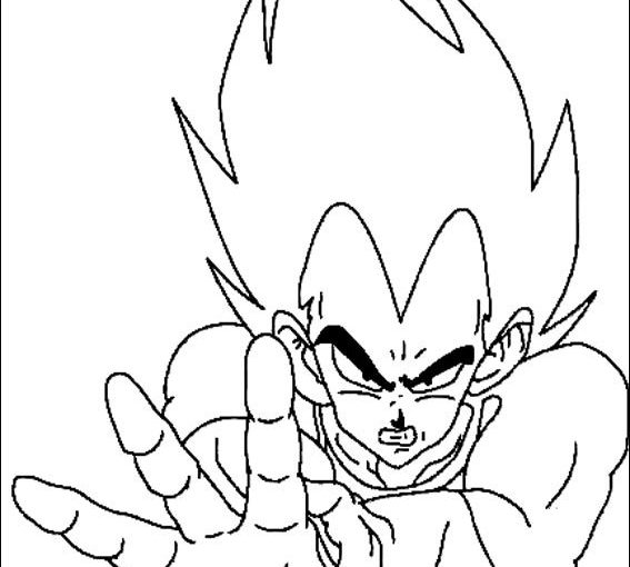 Dragon Ball Z free coloring printable pages of Goku, Vegeta, Piccolo, Gohan