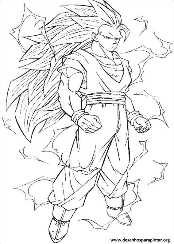 Dragon Ball Z Free Coloring Printable Pages Of Goku