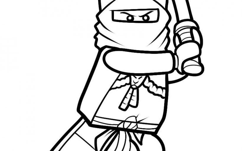 Lego NinjaGo Lloyd, Jay, Zane Nya, Cole and Sensei Wu free drawing coloring printable pages