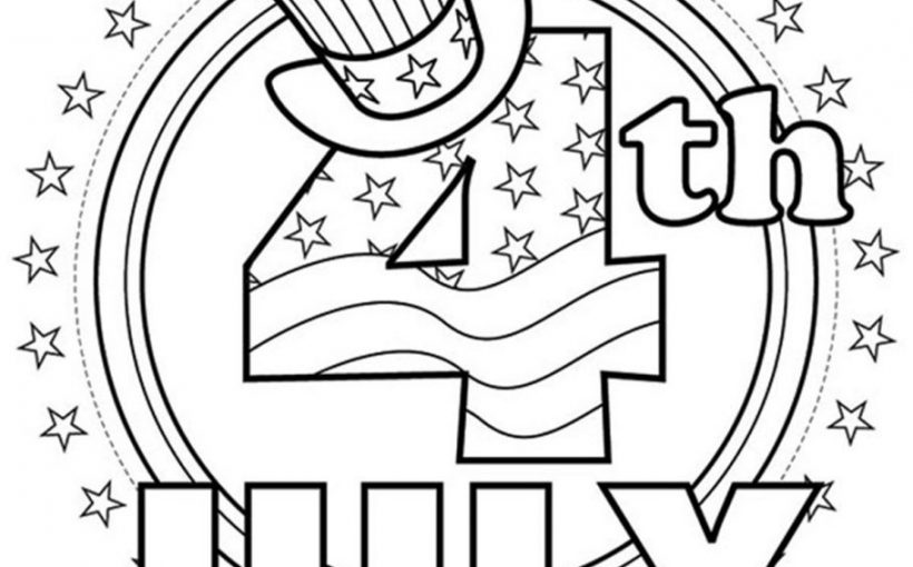 4th of July Independence Day free coloring pages