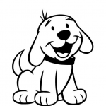 Dog and Puppy free coloring printable pages