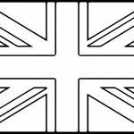 United Kingdom flag printable coloring page
