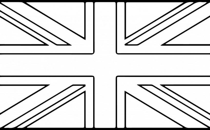 United Kingdom flag printable coloring page