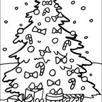 Christmas Tree coloring pages to color and paint