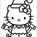 Hello Kitty christmas printable coloring pages - XMAS images