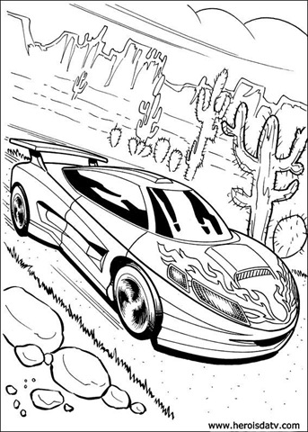 hotwheels cars free printable coloring pages