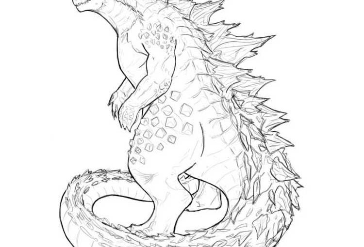 Godzilla free coloring printable pages