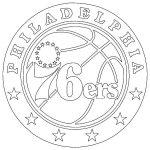 Philadelphia 76ers NBA logo coloring pages printable